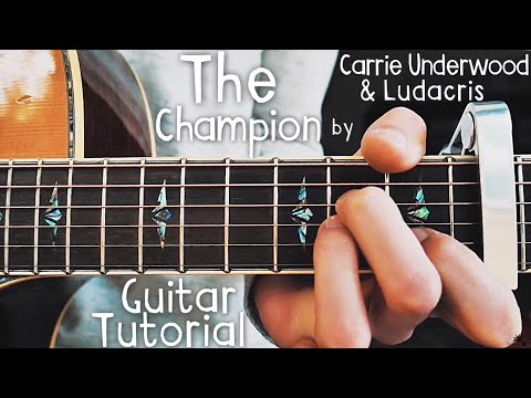 The Champion Carrie Underwood Guitar Lesson for Beginners // The Champion Guitar // Lesson #396
