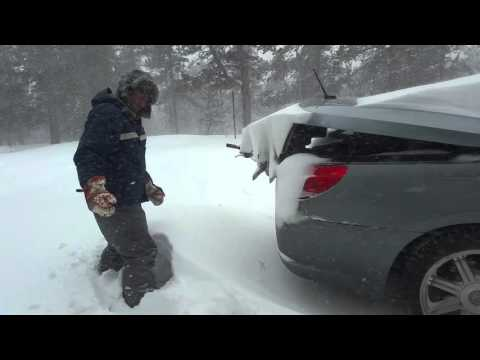 Winter storm in RV caught with trunk open. Fail