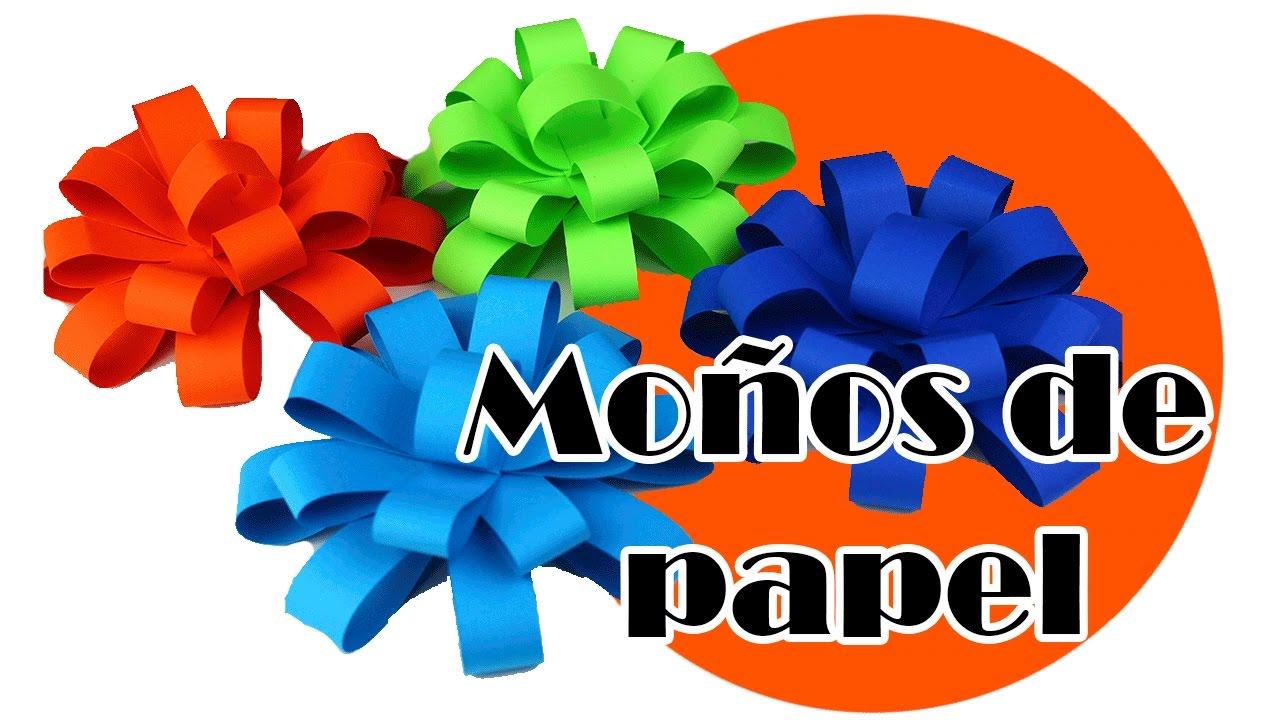 Como hacer mo os de papel para decorar regalos paso a paso - Papeles de vinilo para pared ...