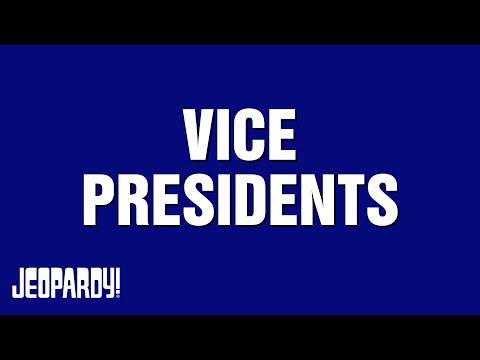 Jeopardy! Presents   VICE PRESIDENTS