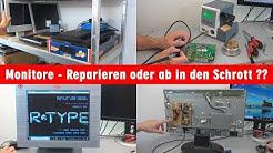 Monitore reparieren oder ab in den Schrott? TFT/LCD-Monitor-Test - Defekte Bildschirme prüfen