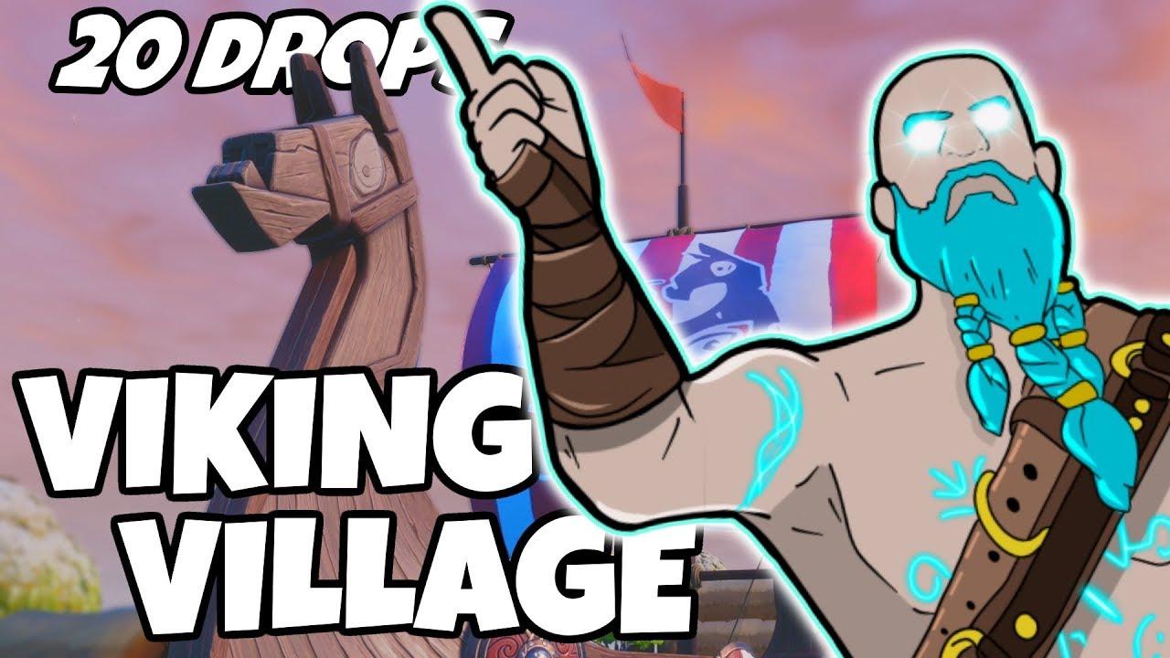 Ich habe Viking Village 20 Mal fallen gelassen und das ist, was passiert ist (Fortnite) + video