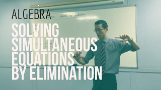 Solving Simultaneous Equations by Elimination (1 of 2: Reviewing other methods)