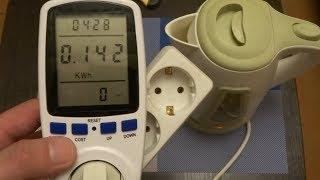 Сколько потребляет электрический чайник? Обзор цифрового ваттметра в розетку с алиекспресс