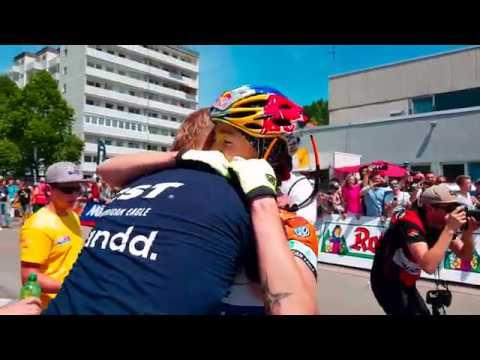 Yana Belomoina winning her first 'Elite' UCI World Cup in Albstadt, Germany 2017