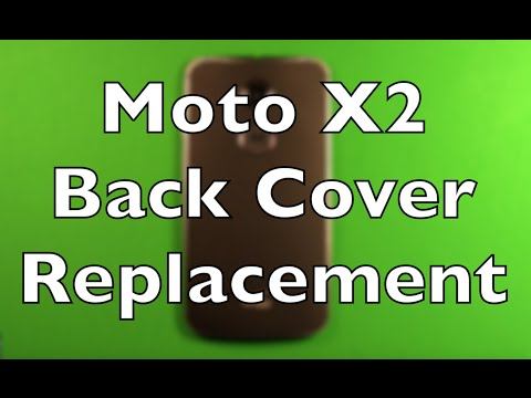Moto X (2nd Gen) Back Cover Housing Replacement How To Change
