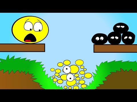ПУЗЫРЬ плюс ПУЗЫРЬ Острые ШИПЫ и Колючки ЛОПАЮТ Желтые пузыри Мультик для ДЕТЕЙ
