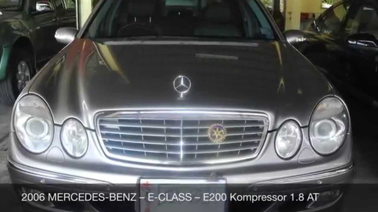 2006 mercedes benz e class e200 kompressor 1 8 at for 2006 mercedes benz e350 reviews