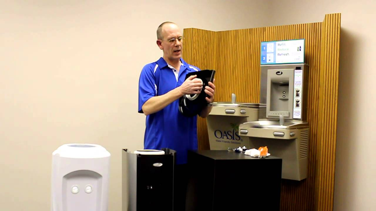 Cleaning Amp Santizing Your Oasis Water Cooler Youtube