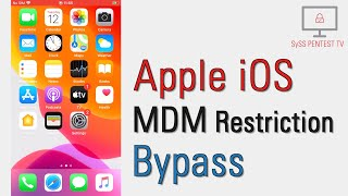 Apple iOS Mobile Device Management (MDM) Restriction Bypass