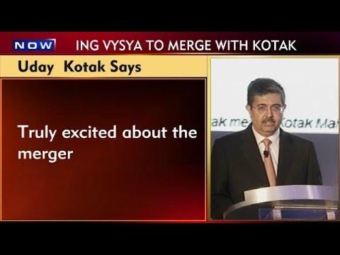 Uday Kotak Announces Kotak Bank's Merger With ING Vysya Bank