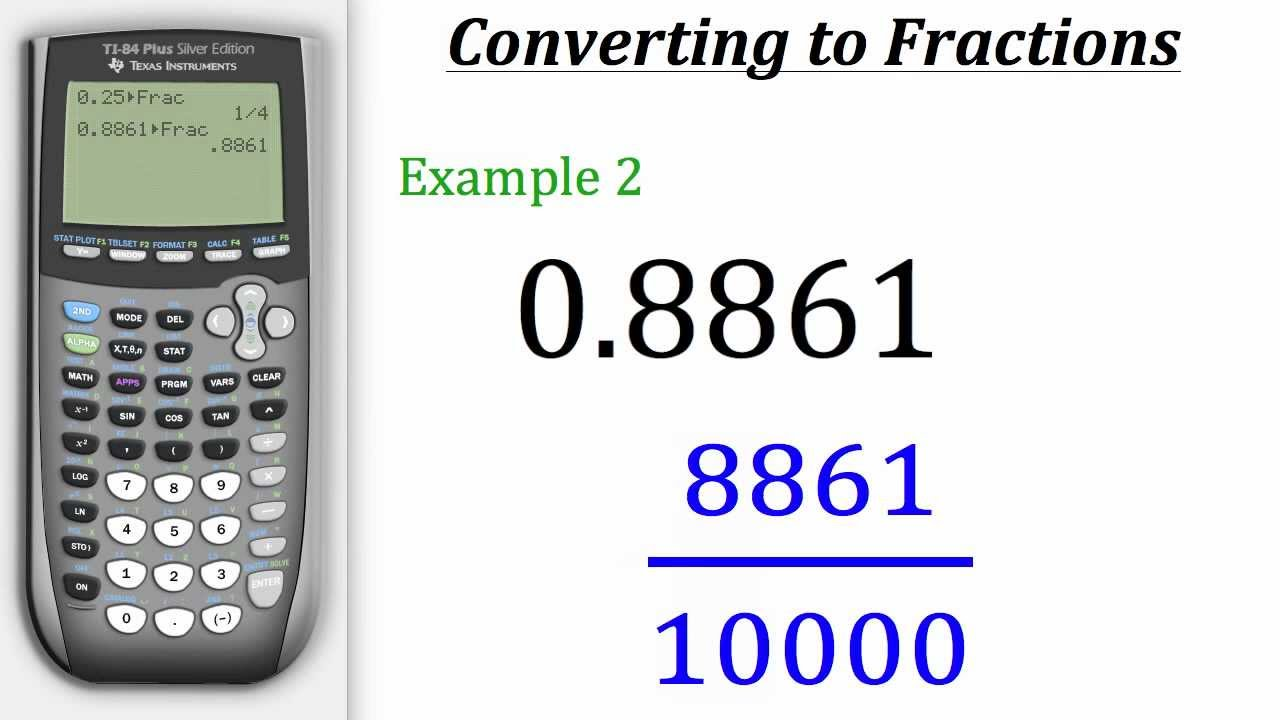 TI Calculator Tutorial: Converting Decimals to Fractions - YouTube