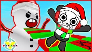Roblox Obby Rush ESCAPE EVIL SNOWMAN Christmas Edition Let's Play Combo Panda Vs. Alpha Lexa