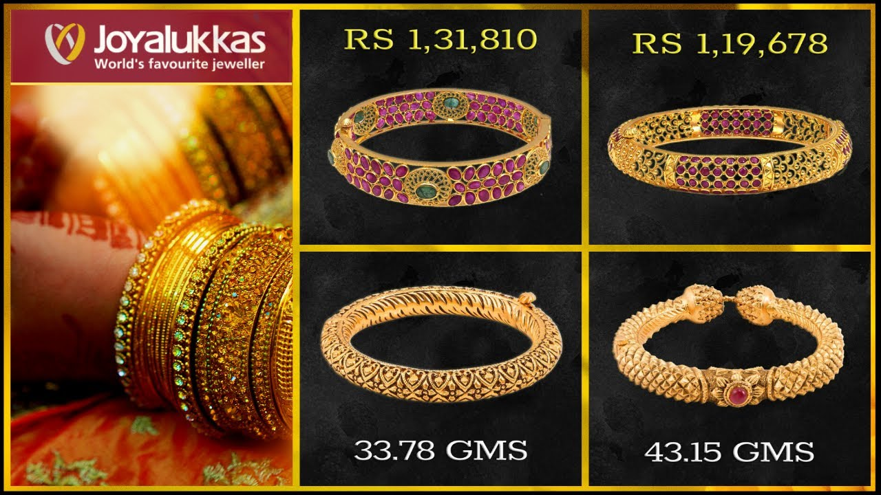 Joyalukkas Gold Bangle Designs With Price And Weight 2019 Youtube,Creative Logo Design Ideas For Graphic Designers Png
