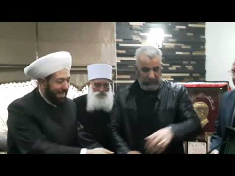 Brigadier General Issam Zahreddine meeting with Syrian Grand Mufti Ahmad Badreddin Hassoun