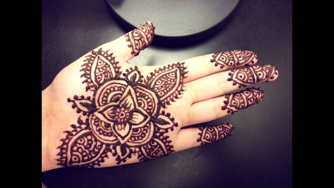 Cute Henna Tattoo Designs: Simple Floral Mehendi Design