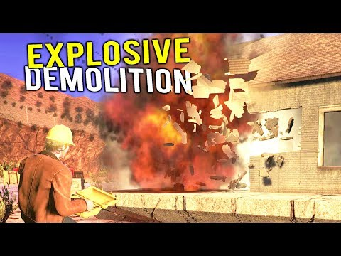 USING EXPLOSIVE CHARGES TO DEMOLISH HOUSES! All New Heavy Equipment - Demolish and Build 2018