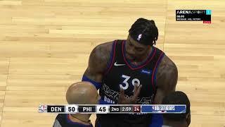 NBA: Filadelfija - Denver, Hauard udara Jokića / 09.01.2021.