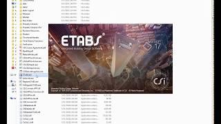 ETABS 17 crack