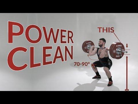 Power CLEAN / weightlifting & crossfit