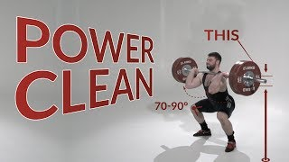 Power CLEAN / weightlifting & crossfit