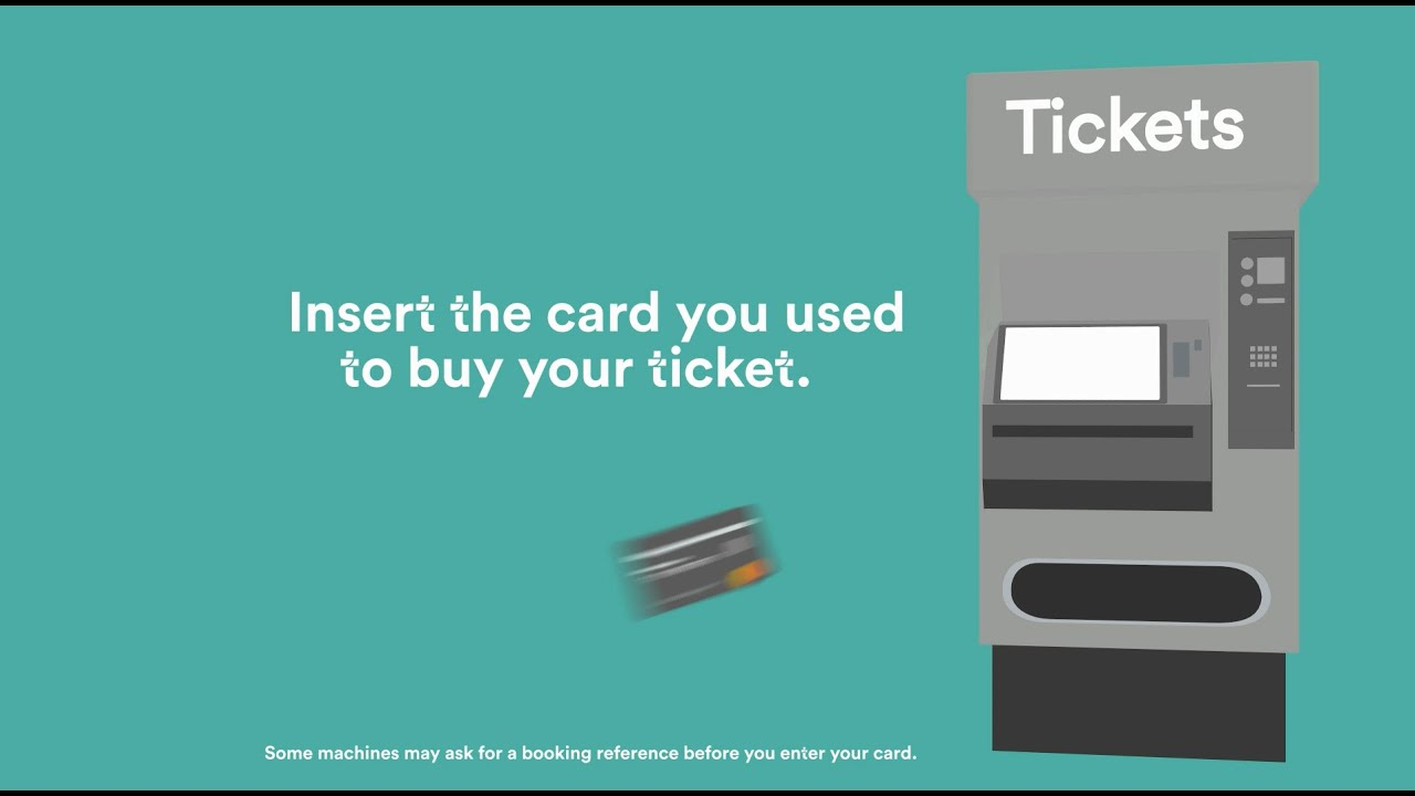 How to collect pre booked tickets from station machines youtube reheart Gallery