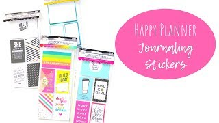 The Happy Planner | Journaling Stickers