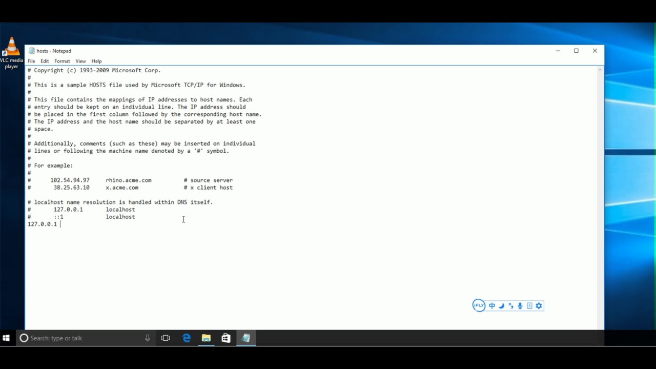 how to edit hosts file in Windows 10 7 8