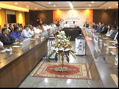 MOU SIGNING WITH KIA MOTORS, IN THE PRESENCE OF AP CM AT SECRETARIAT ON 27042017
