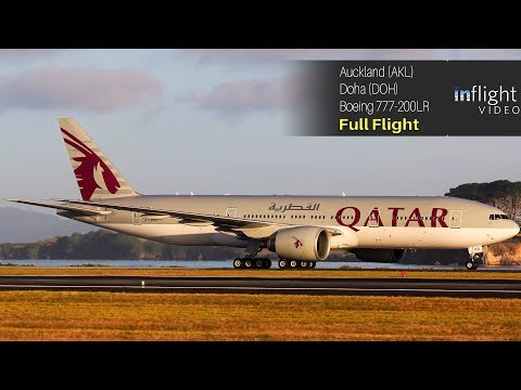 World's Longest Flight - Full Flight: Qatar Airways Auckland