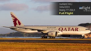 World's Longest Flight - Full Flight: Qatar Airways Auckland to Doha - Boeing 777-200LR