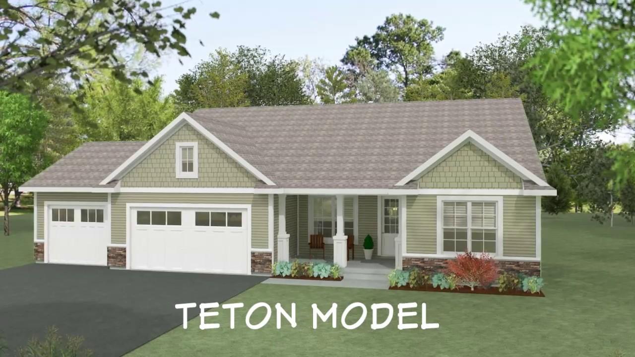 Teton Home Floor Plan By Wausau Homes Youtube