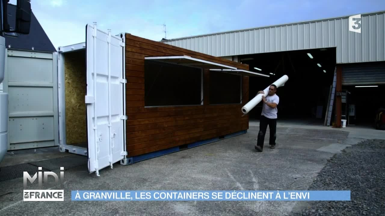 Made in france granville les containers se d clinent for Maison conteneur youtube