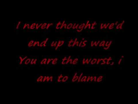 Hawthorne Heights - Dead in the Water (lyrics)