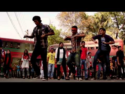 ICC T20 2014 flash mob by Jagannath University