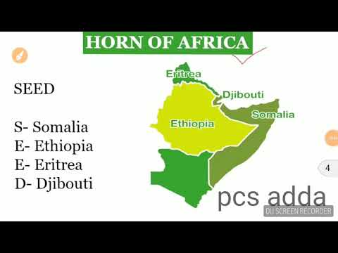 trick to remember country of HORN OF AFRICA
