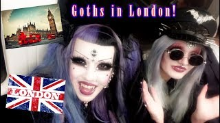 Goth girls in London - modelling and shenanigans