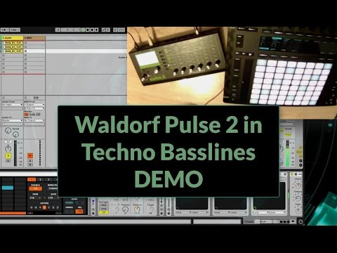 Waldorf Pulse 2 in Techno Basslines Improvisation (2017)