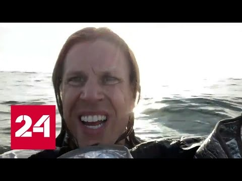 Пилот рухнувшего самолета снял на видео выживание в открытом океане - Россия 24