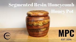 Segmented Resin and Honeycomb Honey Pot