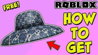 [EVENT] *FREE GUCCI ITEM* How To Get Gucci Denim Wide Brim Hat In Roblox For FREE