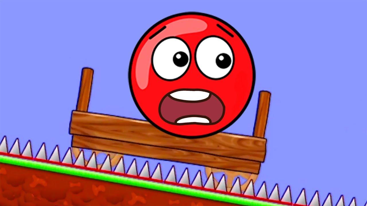 Новый КРАСНЫЙ ШАР 1. 7-10 УРОВНИ. Мультик ИГРА New Red Ball 1