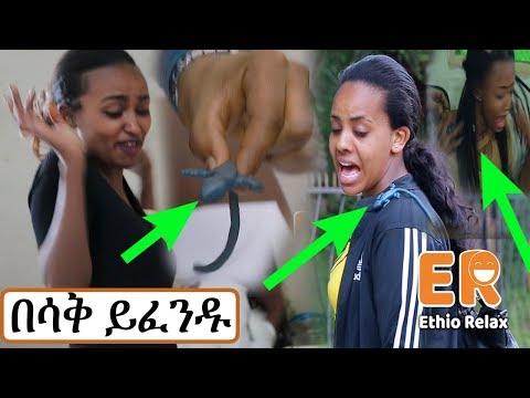 Ethiopia: እንሽላሊት ስታስበረግጋቸው በሳቅ   Ethiopian Prank   Ethiopian Comedy   Amharic
