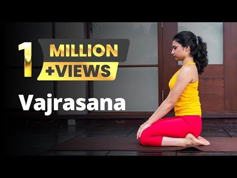 Vajrasana / the thunderbolt / the diamond pose / the sitting asana in Yoga