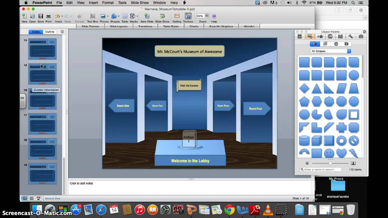 virtual museum exhibit - youtube, Presentation templates