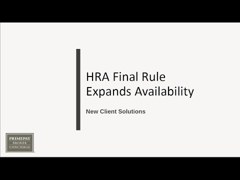 July Webinar  HRA Final RuleExpands Availability– New Client Solutions