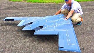 Baixar XXXL B-2 SPIRIT STEALTH BOMBER RC TURBINE JET FLIGHT DEMONSTRATION