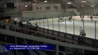 Acton Boxborough Varsity Boys Ice Hockey vs Haverhill 12/28/16