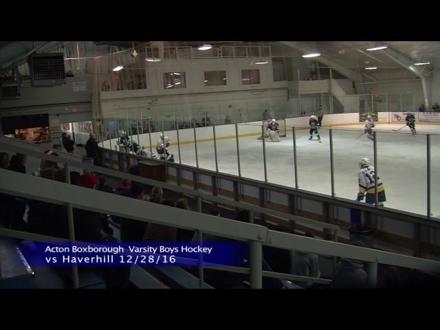 Acton Boxborough Varsity Boys Ice Hockey vs Haverhill 12/28/16