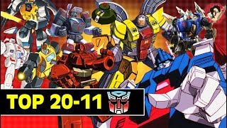 Top 20 - 11 Autobots From G1 Transformers